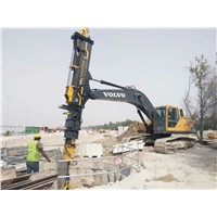 TYSIM KM260 Excavator Telescopic Clamshell Boom for Extending Construction Radius & Vertical Depth