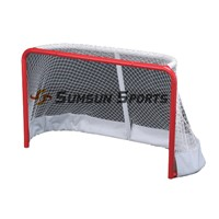 Mini Hockey Goal Folding Steel Hockey Goal with Protective Padding