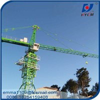 10T QTZ5025 Self Climbing Tower Crane 50m Boom with Tower Head