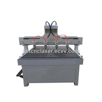 CNC Router 1325 with 3 Spindles for Wooden Door Furniture Making