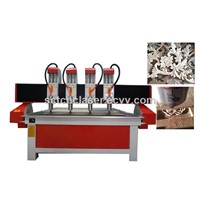 Jinan Sunrise CNC Technology Co., Ltd CNC 1318 Wood Cutting Machine 3d