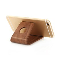 100% Natural Portable Real Wooden Stand for Mobile Phone