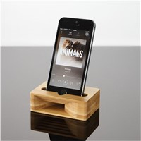 Fashion Bamboo Stand with Speaker Function for Mobile Phone