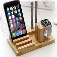 Natural Wooden Display for PC Watch & Phone (without Charge)