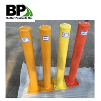 Powder Coated Yellow Steel Bollard Hot Sales