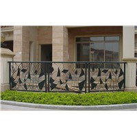 Chinese Factory Wrought Iron Fence EBF208, High Quality Garden Fence, Good Price Security Fencing, Hand-Forged Iron Rail