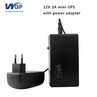 High Capacity Home Storage Power UPS IP Camera Battery Backup Small DC Online UPS 12V 2A for Monitor Use