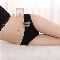 Yun Meng Ni Sexy Underwear Lepoard Bow Women's Panties Sexy Girls Soft Cotton Thongs for Women