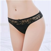 Yun Meng Ni Sexy Underwear Wasit Sexy Lace G-String Cotton Thongs for Women