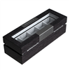 CHIYODA 5 Watch Box Jewellery Display Case (Black)
