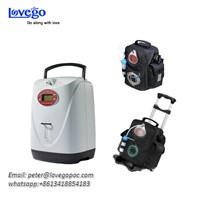 Lovego Portable Oxygen Concentrator LG102Plus with both Continuous & Pulse Oxygen/Meet1-6LPM Need/Battery 8 Hours