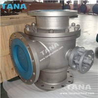 Stainless Steel 316 Flanged Ends L Type 3 Way Ball Valve