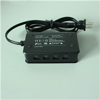 4-PORT 5V2.1A*2&5V1A*2 USB Digital Charger with Output 6.2A