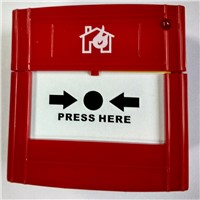 DC24V 2-Wire Conventional Manual Call Point Fire Alarm Button Break Glass for Fire Alarm System