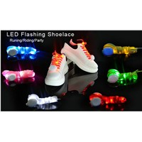 Fashion LED Shoelaces 110cm Shoe Laces Flash Light up Glow Stick Strap Flat Shoelaces Disco Party Shoes