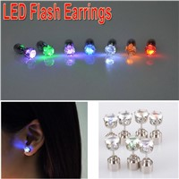 Multicolor Bright Stylish Fashion LED Earrings Glowing Lighting Earring Flashing LED Party Ear Stud