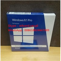 Win 8.1 Professional Original License Key Code COA Sticker & DVD& Sealed Packing Box