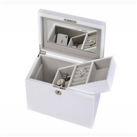 China Pinsidea White Wooden Jewelry Box