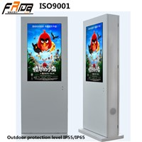 47 Inch Outdoor TFT LCD DIGITAL SIGNAGE Floor Standing /Advertising Player Display High Brightness& Temperature Control