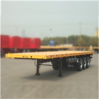 20ft 40ft 3 Axle Flatbed Semi Trailer for Sale