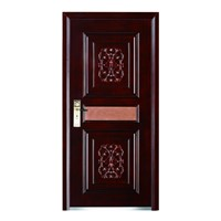 Steel Wood Armored Door with Smooth Surface