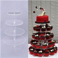 5-Tirer Acrylic Cake Stand Acrylic Food & Snack Display