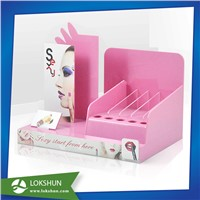 Customized POP Acrylic Lipstick Display with Pink Color Acylic, China Acrylic Cosmetic Display Rack Manufacturer
