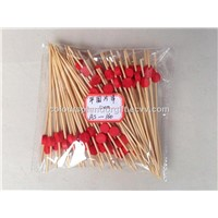12cm Fruit Tooth Pick Creative Round Shape Fruit Fork Toothpicks Barbecue Toothpick Bamboo Cocktail