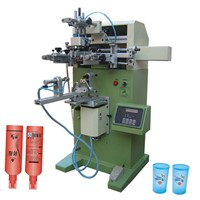 TM-250s Cylinder Surface Screen Printing Machine for Cup Bottle Pipe