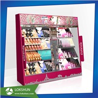 Large Size MDF & Acrylic Display with LED Lights, Wooden Cosmetic Display Cabinet