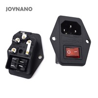 JOYNANO 3-in-1 Inlet Module Plug 5A Glass Fuse Rocker Switch