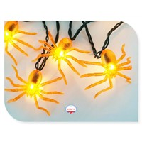 LED Battery-Operated Plstic Halloween Spider String Light