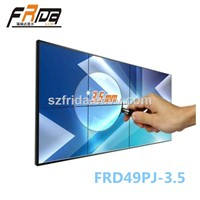 49 Inch Seamless LCD Video Wall / Splicing Screen / Video Media Player &Stitching Gap 3.5mm