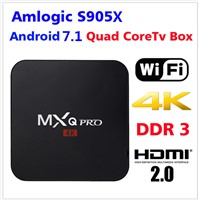 Android 7.1 Kodi 4k HD 2018 Newest Amlogic S905X TV Box MXQ Pro 2GB RAM 16GB ROM Factory Wholesale