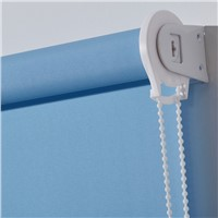 100%Polyester Fabric Roller Blinds Blue Color