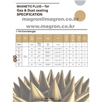 Magnetic Fluid for Gas&Dust Sealing