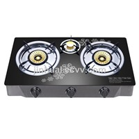 3 Burners Tempered Glass Top 90# Copper Burner (JHL. 3-T026C) Cook Top/Gas Cooker/Gas Stove