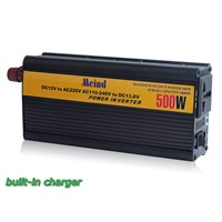 500W Modified Sine Wave DC to AC Power Inverter with Built-In Charger