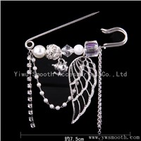 Fashion Jewelry Rhinestone Garment Brooches Decoration Lapel Shawl Pin Pendant