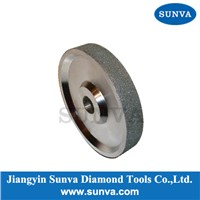 "SUNVA-DWR 4"" 6"" 8"" 10"" Regular Diamond Grinding Wheels Diamond Plated Wheel Manufacturer"