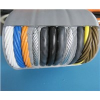 Flat Elevator Cable with CAT6E Network Cable & TV Coaxial Cable