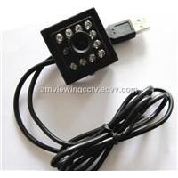 2MP HD Mini USB Camera with Night Vision, 10pcs IR LEDs, No Driver Plug & Play