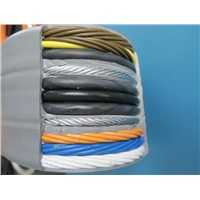 Shielded Flat Traveling Cable for Elevator TVVBP 54*0.75+2*2P*0.75