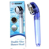 IBAMA Handheld Double Filtered Shower Head Pressure Boost & Water Saving for Fixing Dry Skin & Hair Loss