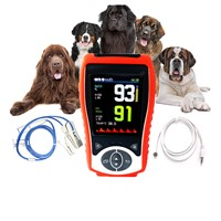 Temperature Probe Veterinary Handheld Pulse Oximeter SpO2 Heart Rate Continuous Detection Pets High Configuration