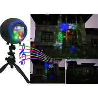 Remote Controllable Red Green Blue Color Motion Outdoor Laser Lights Projector for Garden Landscape