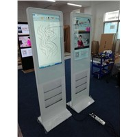55 Inch Indoor Floor Stand LCD Advertising Digital Panel with Android Or PC