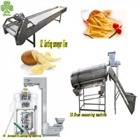 Small Fully Automatic Potato Chips Making Machines Potato Crisp Making Factory