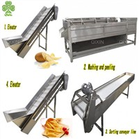 300 Kg/h Banana Chips Lays Potato Chips Factory Manufacturing Machine Plant