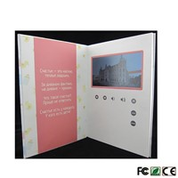 "LCD Digital Screen Greeting Card Customized Video Memory Brochure 10"" Screen, HD for Wedding, Keepsakes, Invites, Enterp"